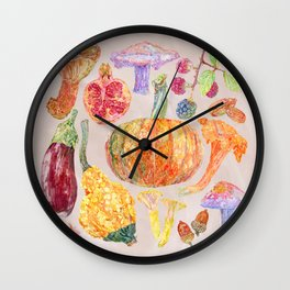 Seasonal Fruits - Cosy Wall Clock