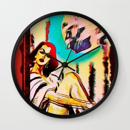 Under A Crescent Moon Wall Clock