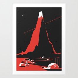 Comet FlyBy Art Print