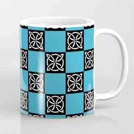 blue and black pattern Coffee Mug