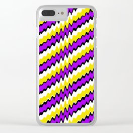 Purple gold white and black slur 2 Clear iPhone Case