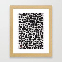 Squarrr 01 Poster Patterns Framed Art Print