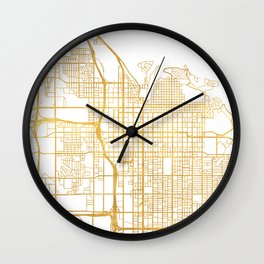 SALT LAKE CITY UTAH CITY STREET MAP ART Wall Clock