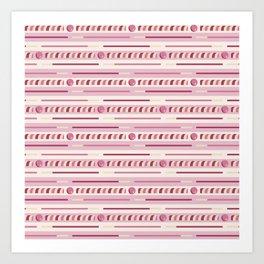 Strawberry Cookie Sticks Horizontal Art Print