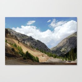 View North from the Sunnyside Mill at Eureka, on the Alpine Loop Canvas Print