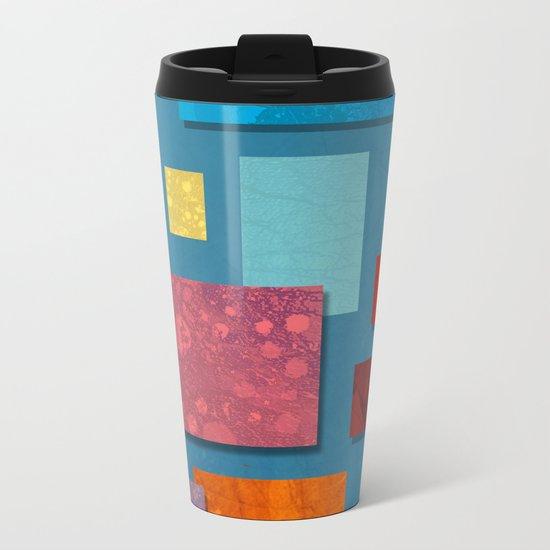 Abstract #324 Metal Travel Mug