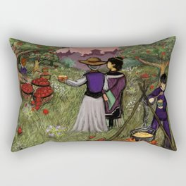 Cooking Apples In The Orchard Rectangular Pillow
