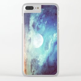 Twin Moons // Moonrise Sky Clear iPhone Case