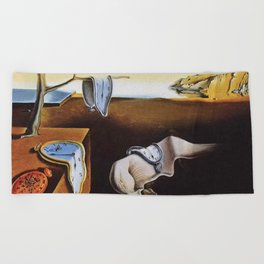 THE PERSISTENCE OF MEMORY - SALVADOR DALI Beach Towel