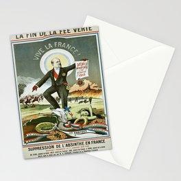 Vintage poster - La Finn de la Fee Verte Stationery Cards