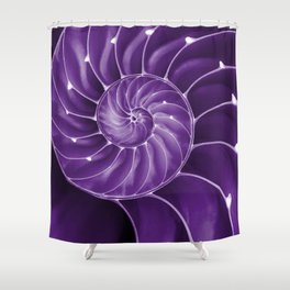 Ultra Violet Chambered Nautilus 2 Shower Curtain