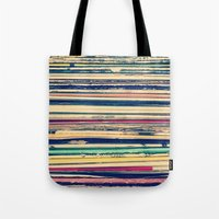 vinyl Tote Bags featuring Vinyl  by Laura Ruth