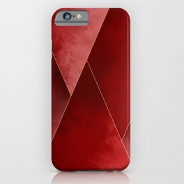 Crimson Tones iPhone Case