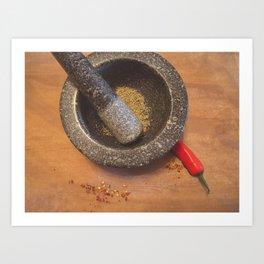 Chilli. Art Print