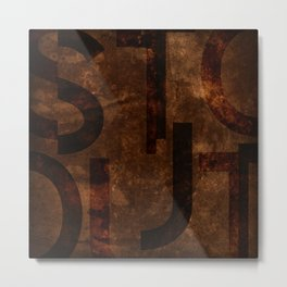 Stout Beer Typography Metal Print