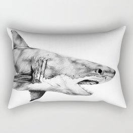 Great White Shark Rectangular Pillow