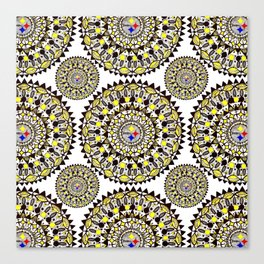 Football Themed Mandala Textile Canvas Print