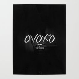 The Weeknd OvOXO Drake Logo Poster
