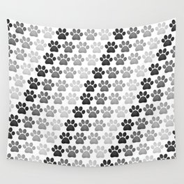 Paw Prints Pattern Wall Tapestry