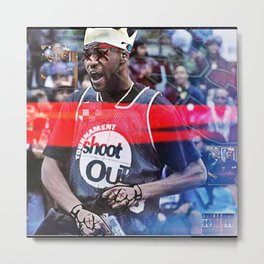 """KING JAMES NOT WITH THE SHXTS"" Metal Print"