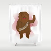 chewbacca Shower Curtains featuring chewbacca by Lalu