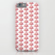 Orange floral pattern 1 Slim Case iPhone 6s