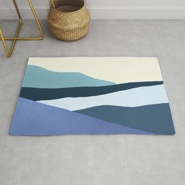Layered 1.3 - Abstract Landscape Rug