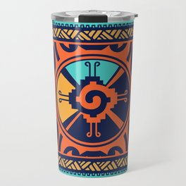 Colorful Hunab Ku Mayan symbol #2 Travel Mug