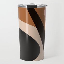 abstract brown Travel Mug