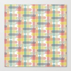 Paddlepop stick plaid Canvas Print