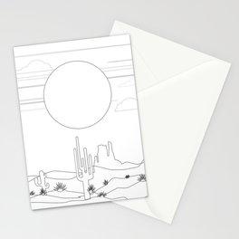 Minimal Desert Landscape 1 Stationery Cards