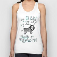 jane austen Tank Tops featuring COURAGE: PRIDE AND PREJUDICE by JANE AUSTEN by Rosianna