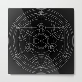 transmutation cicle Metal Print