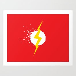 Square Heroes - Flash Art Print