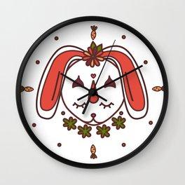 Kawaii Rabbit Wall Clock