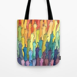 fuck-off in rainbow power Tote Bag
