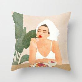 Strawberry Pancakes Throw Pillow