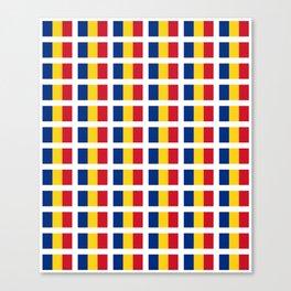Flag of romania-romania,romanian,balkan,bucharest,danube,romani,romana,bucuresti Canvas Print