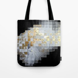 Squares in Gold and Silver Tote Bag