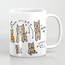 Many faces of Pip Coffee Mug