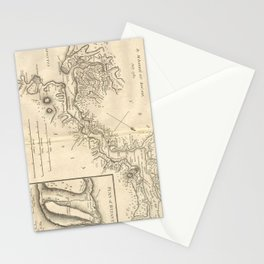 Vintage Map of Istanbul Turkey (1784) Stationery Cards