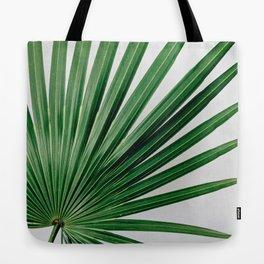 Palm Leaf Detail Tote Bag