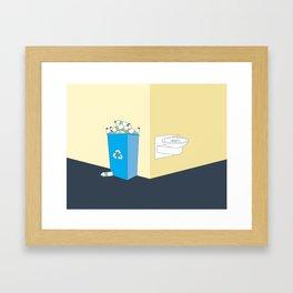Recycling Water Bottles Framed Art Print