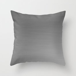 Smooth Sheet Metal Dull Ombre Texture Graphic Design Throw Pillow