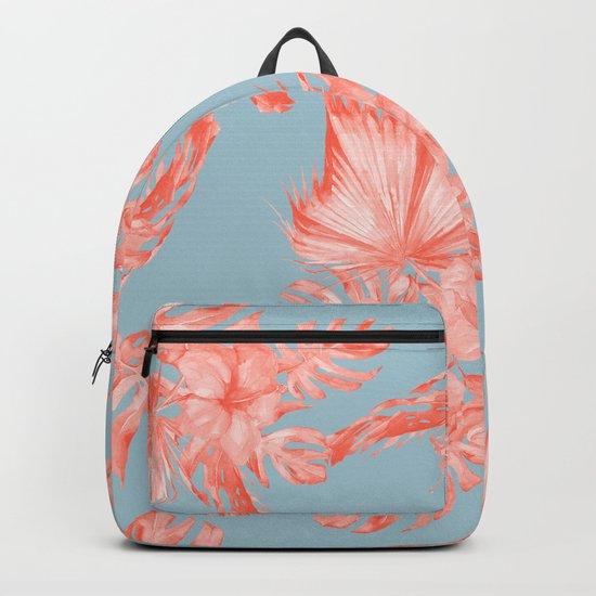 Dreaming of Hawaii Coral on Ocean Blue Backpack