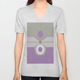 Abstract-geometric 02 Unisex V-Neck