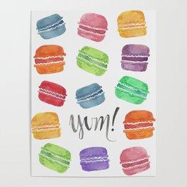 Yum! Macarons Poster