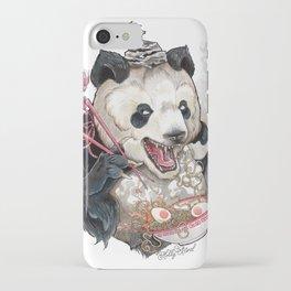 Panda Eating Ramen In A Tin Foil hat iPhone Case
