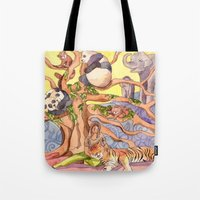asia Tote Bags featuring Asia by Emelinedou