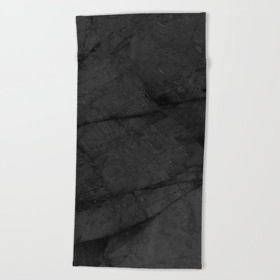 Dark Grey Marble Beach Towel